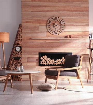 Le bois domine sur les meubles